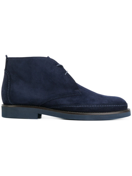 Loro Piana women lace leather blue suede shoes