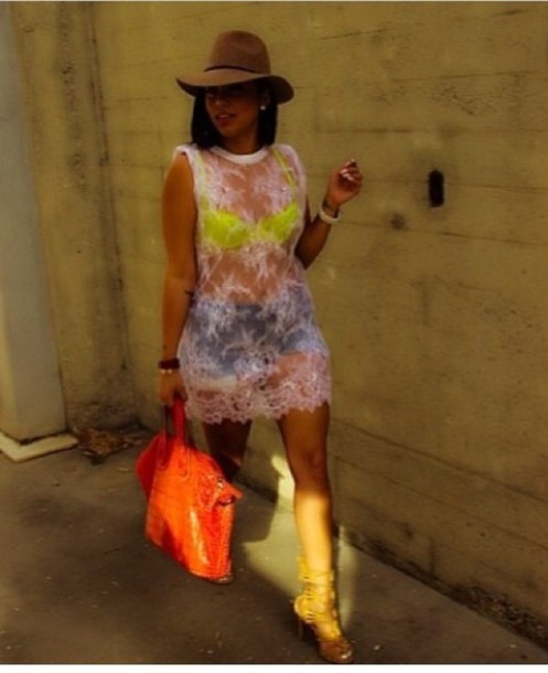 dress lauren london hat top lace white blouse mesh dress where to get this neon top ?