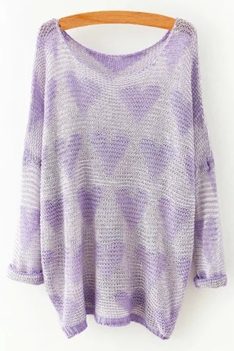 sweater casual cute kawaii purple back to school hipster hippie grunge zaful off the shoulder heart