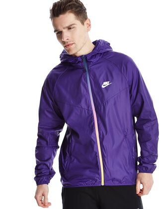 jacket nike purple nike windrunner windbreaker dope rainbow