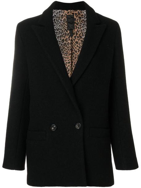 DONDUP jacket double breasted women black wool
