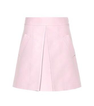 miniskirt cotton purple skirt