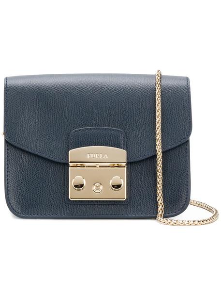 Furla mini women bag crossbody bag leather blue