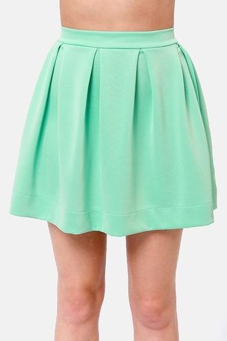 skirt mint-green dress