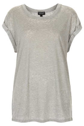 Basic Burnout Tee - Tops  - Clothing  - Topshop