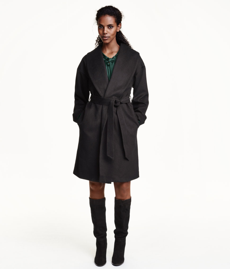 Coat in a wool blend £29.99