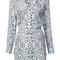 Equipment - leopard printed shirt dress - women - silk - l, white, silk