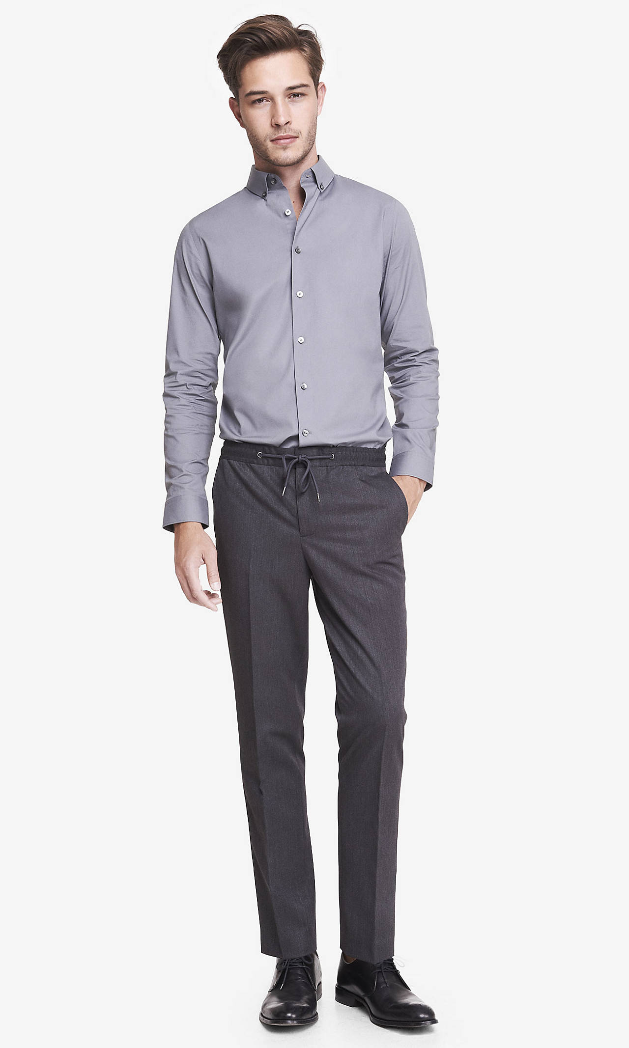 DRAWSTRING PHOTOGRAPHER DRESS PANT from EXPRESS