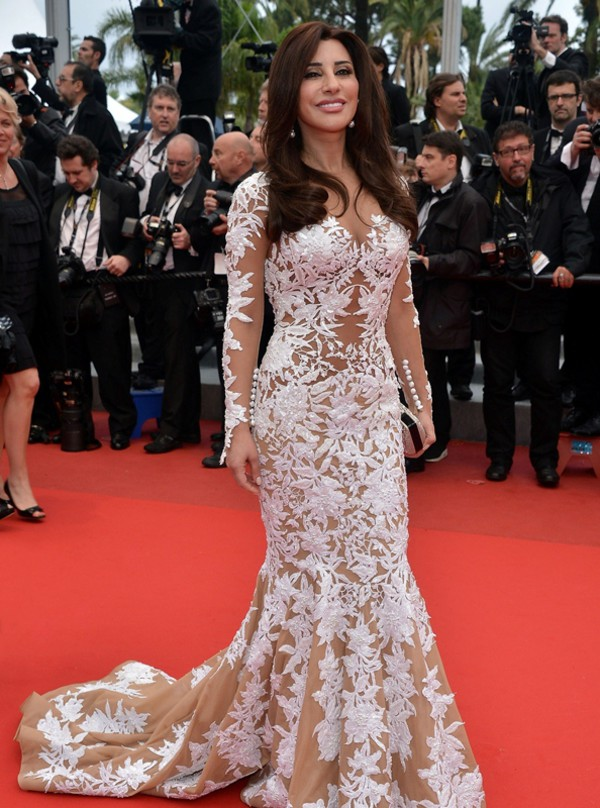 prom dress evening dress long sleeve dress najwa karam red carpet dress dress