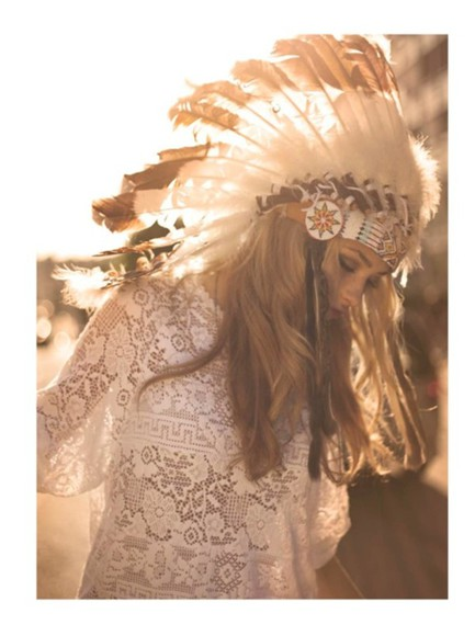 feathers hat summer girl indian cute dress