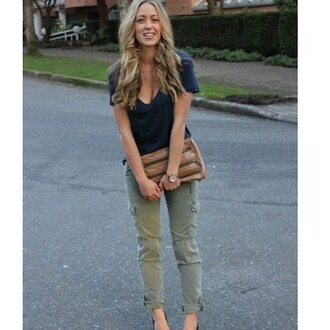 pants green pants khaki