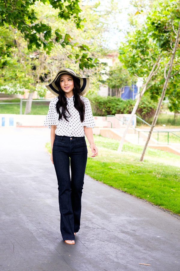 the fancy pants report top jeans hat jewels