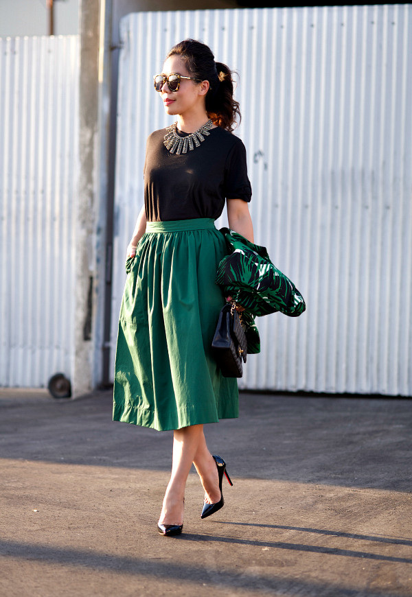 hallie daily jacket skirt shoes t-shirt bag jewels