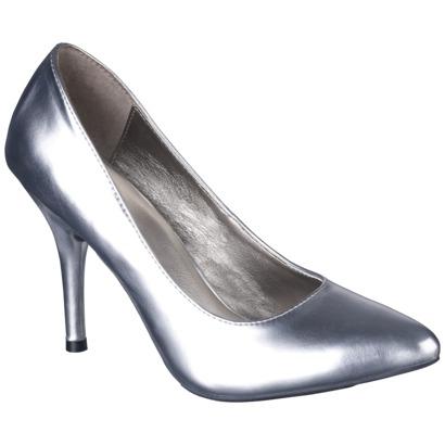 4ec434e79bd Women s Mossimo® Vivian Pointy Heel - Silver   Target