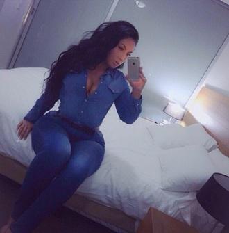 shirt jeans dress blue