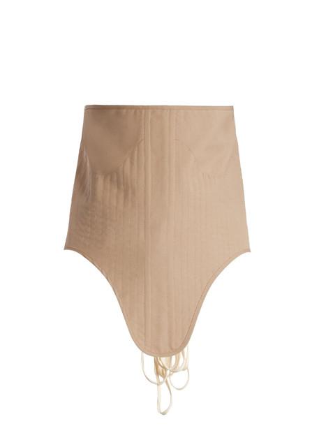 corset belt belt lace wool beige