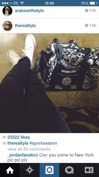 bag shoes converse vine tumblr girl tumblr post instagram wolftyla tyla instagramfashion