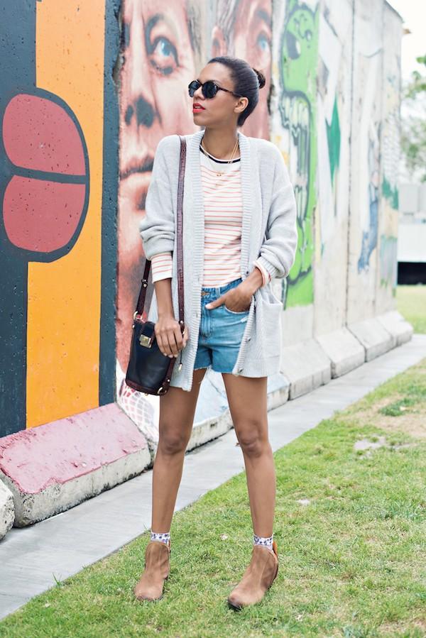 style me grasie top cardigan shorts bag socks shoes jewels