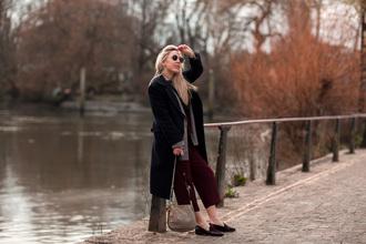 british fashion blog - mediamarmalade blogger coat jacket t-shirt shoes bag shoulder bag loafers winter outfits