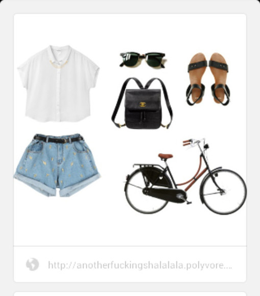 chanel shirt hipster hippie flat sandals sunglasses crop tops