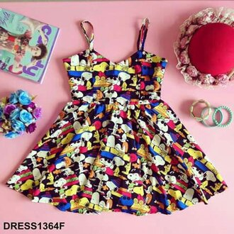 dress tropical valentines cartoon print youshop 10902.youshop.com igshop @annexcient