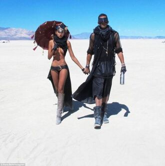 swimwear desert burning man burning man pants burning man coat burning man clothing burning man costume black swimwear bikini black bikini boots menswear festival music festival umbrella