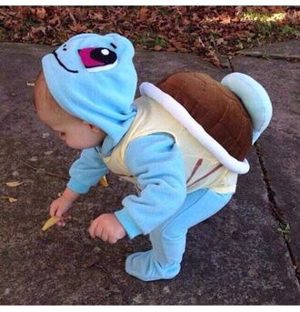 pokemon kids fashion costume pajamas baby baby clothing jumpsuit love romper pokemon turtle blue coat turtle hair accessory costume suit déguisement pokemon costume