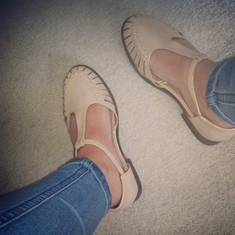 shoes beige salmon pink