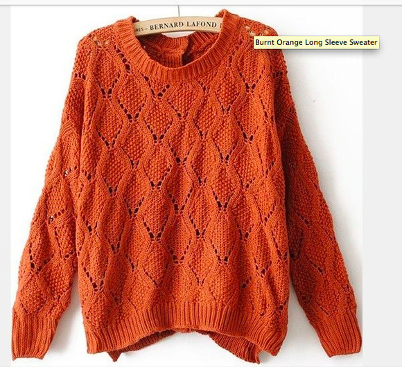 orange fall outfits oversized oversized sweater adorable fall outfits vintage rusty rusty brown rusty orange grandpa sweater