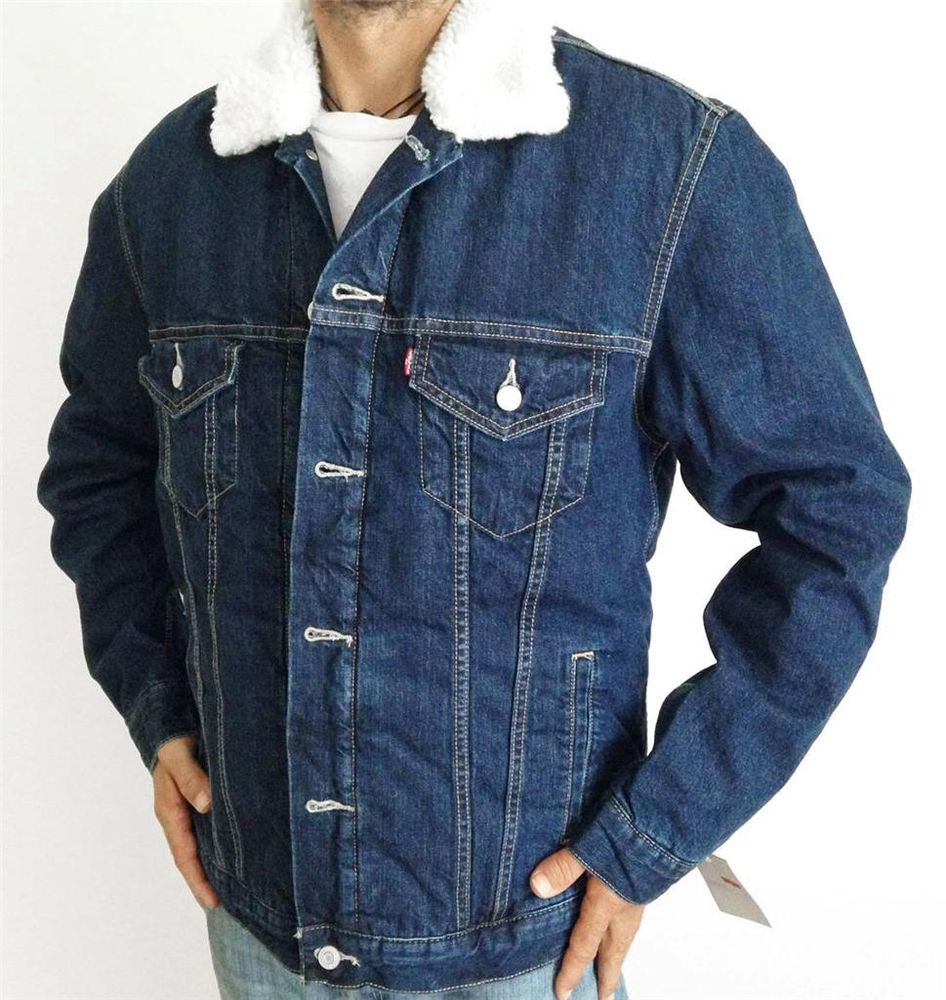 new levi s mens premium classic jean denim trucker jacket 705980006 ... f0bf725f0