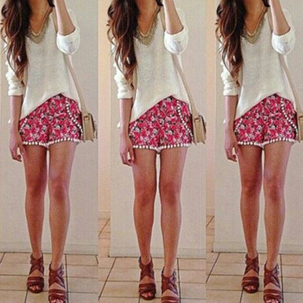 Admirable Com Buy Lg Fashion 2015 Women Shorts Tropical Lace Ball Floral Hairstyles For Men Maxibearus