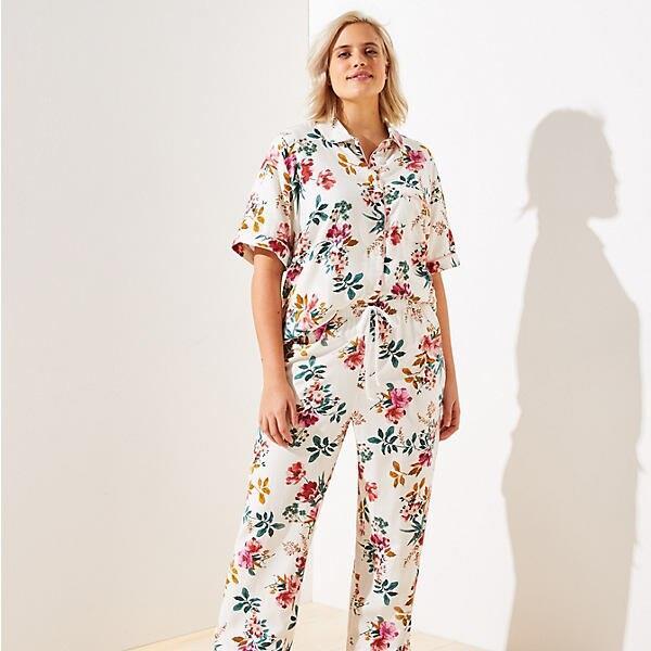 LOFT Plus Floral Pajama Pants