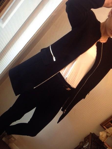 coat black navy