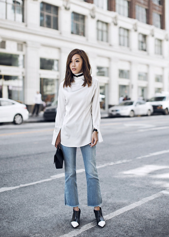 tsangtastic blogger jewels shirt jeans shoes