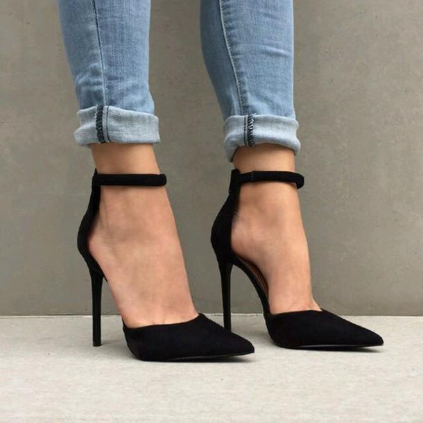 Shoes Heels Tumblr Black Heels Black Shoes Black High Heels