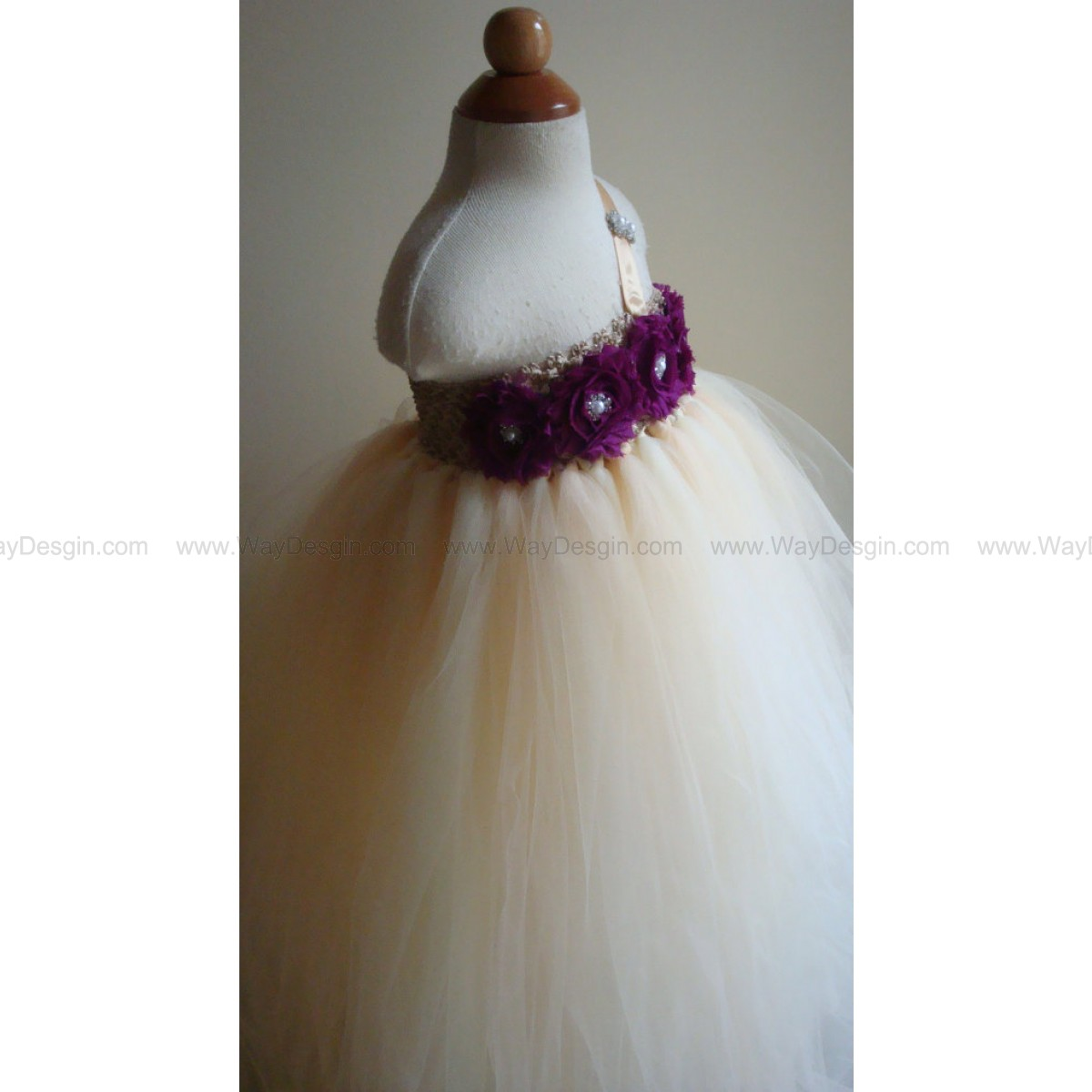 Ivory flower girl dress, tutu dress, plum, silver,Newborn,wedding,birthday,toddler,child,baby,tutu dress