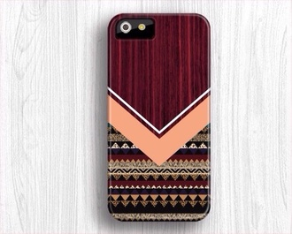 jewels phone cover tribal pattern burgundy iphone pink wood lovefriends