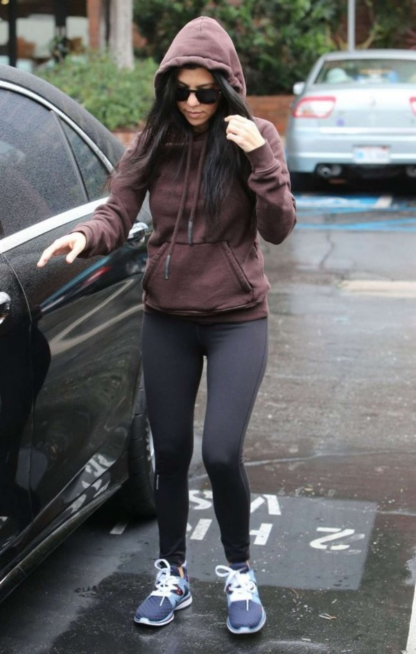 Leggings Sweater Sweatshirt Hoodie Kourtney Kardashian