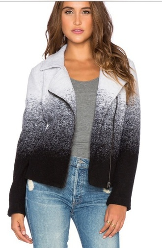 jacket pretty little liars aria montgomery ombre jacket