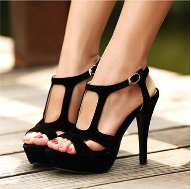 Strappy Suede Heels