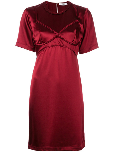 Area dress mini women silk red