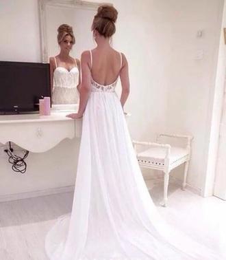 dress white dress wedding dress evening dress prom dress a-line dresses a-line sweetheart dress
