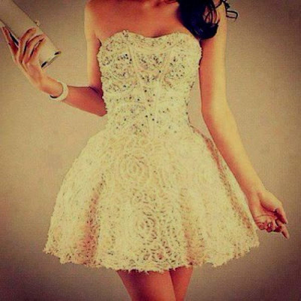 dress white glitter glitter dress