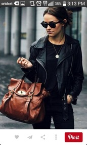 jacket,leather jacket,black leather jacket,zipper jacket,black jacket,bag,handbag,brown bag,shoulder bag,accessories,leather bag,mulberry,satchel bag,jeans,purse,leather,brown purse,leather purse