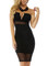 The after party sweetheart neckline sexy black mesh strapless dress