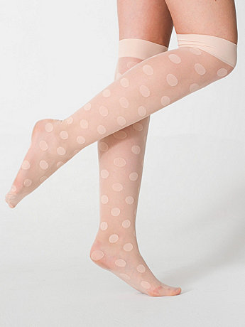 Sheer Luxe Shapes Over-the-Knee Sock | American Apparel