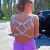dress,purple,back,sequins