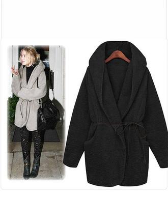 coat winter coat warm winter fashion long sleeves coat hoodie hoodie coat