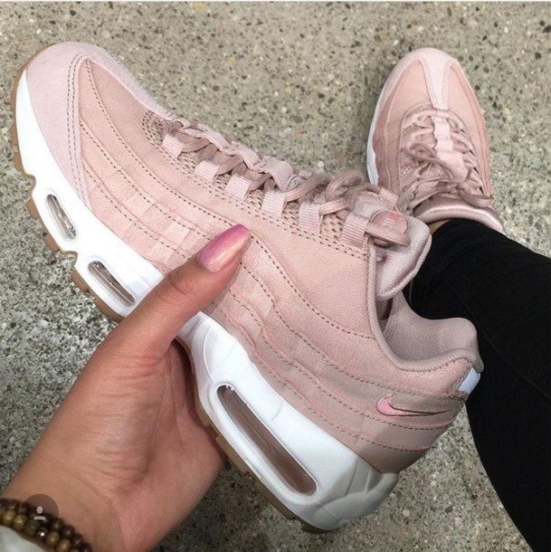 finest selection 1dbc6 a4c35 shoes nike air max 95 pink sneakers air max nike air max 95 rose white blanc