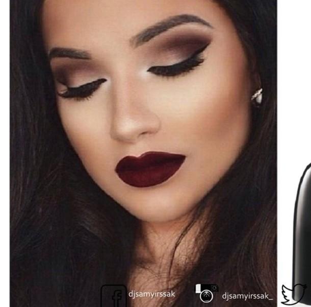 make-up maroo lipstick